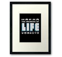 Video Games The Meaning Of Life Framed Print