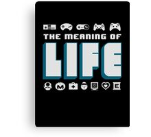 Video Games The Meaning Of Life Canvas Print