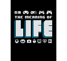 Video Games The Meaning Of Life Photographic Print