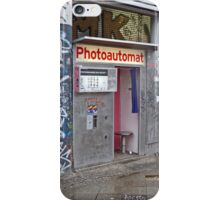 Old photo booth in Berlin, Germany (Fotoautomat) iPhone Case/Skin