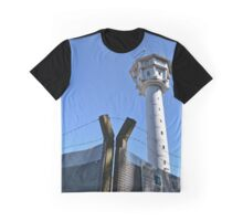 Berlin Wall, Berliner Mauer, Watch tower and barbwire Graphic T-Shirt