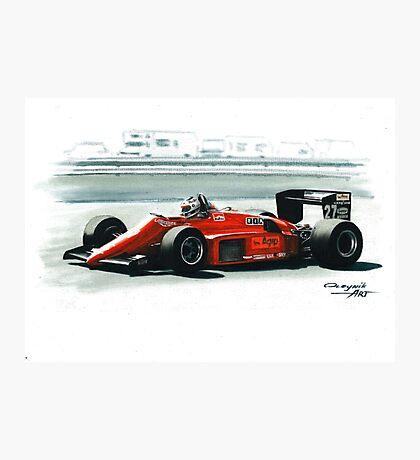 1985  Ferrari 156/85 Photographic Print
