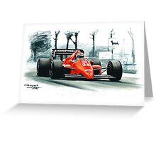 1986  Ferrari F1-86 Greeting Card