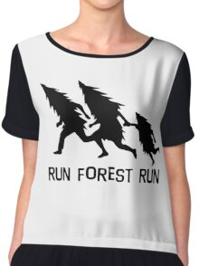 Run Forest Run Chiffon Top