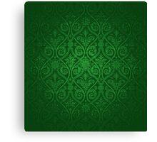 Green Vintage Victorian Canvas Print