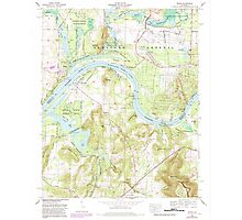 USGS TOPO Map Alabama AL Triana 305237 1964 24000 Photographic Print