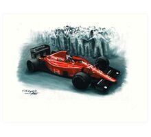 1989  Ferrari F1-89 Art Print