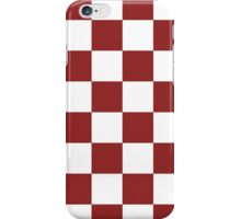 Red white Checkered iPhone Case/Skin
