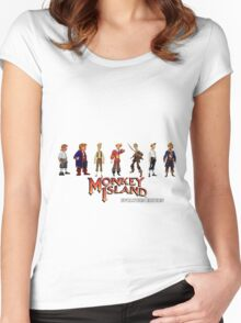Monkey Island Guybrush - Evolution Edition Women's Fitted Scoop T-Shirt