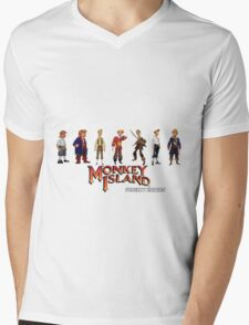 Monkey Island Guybrush - Puberty Edition  Mens V-Neck T-Shirt