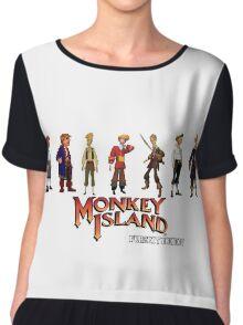 Monkey Island Guybrush - Puberty Edition  Chiffon Top