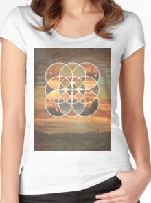 Deserted Sun Women's Fitted Scoop T-Shirt