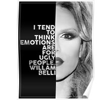 Willam Belli Text Portrait Poster