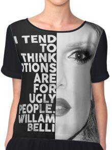 Willam Belli Text Portrait Chiffon Top