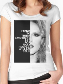 Willam Belli Text Portrait Women's Fitted Scoop T-Shirt