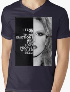 Willam Belli Text Portrait Mens V-Neck T-Shirt