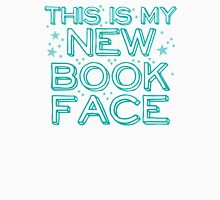 this is my NEW BOOK face Womens Fitted T-Shirt