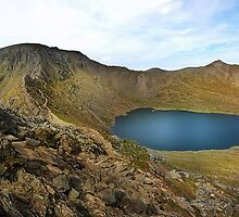 Helvellyn,Striding Edge,Catstye Cam and Red Tarn by eddiej