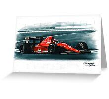 1991 Ferrari F1-91B Greeting Card