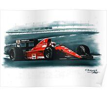 1991 Ferrari F1-91B Poster