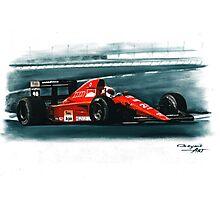 1991 Ferrari F1-91B Photographic Print