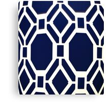 Blue Octagon Pattern Canvas Print