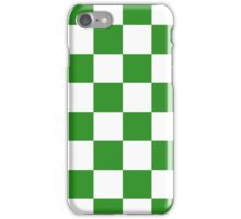 Green Checkered iPhone Case/Skin