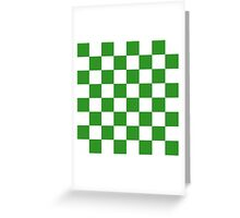 Green Checkered Greeting Card
