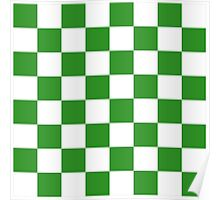 Green Checkered Poster