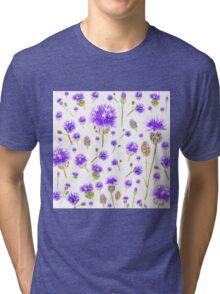 purple wild flower Tri-blend T-Shirt