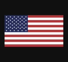 American Flag, Stars & Stripes, Pure & simple, United States of America, USA One Piece - Long Sleeve
