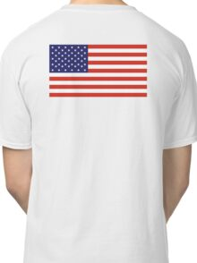 American Flag, Stars & Stripes, Pure & simple, United States of America, USA Classic T-Shirt
