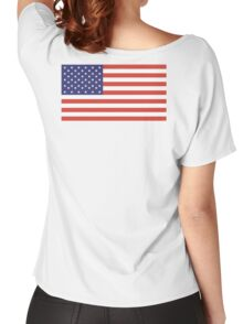American Flag, Stars & Stripes, Pure & simple, United States of America, USA Women's Relaxed Fit T-Shirt