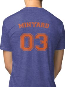 andrew minyard #3 goalkeeper Tri-blend T-Shirt