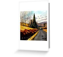 The Country Road Greeting Card