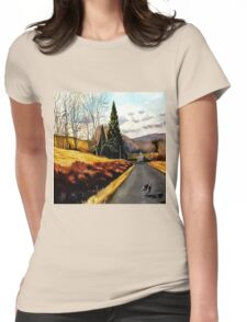 The Country Road Womens Fitted T-Shirt