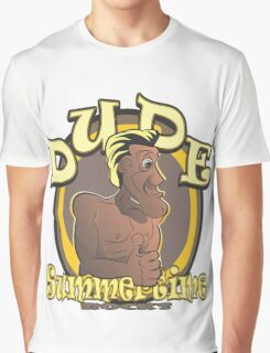 DUDE - Summertime Rocks Graphic T-Shirt