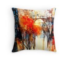 Morning Fog Reflection Throw Pillow
