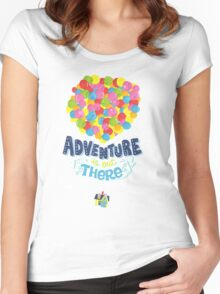Adventure is out there 3 Women's Fitted Scoop T-Shirt