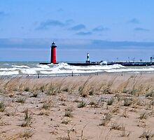 Northeast Winds On Lake Michigan by kkphoto1