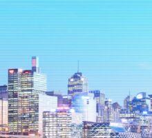 Sydney City CBD Vaporwave Landscape Sticker