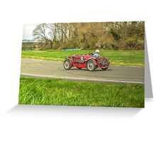 MG sports Car Greeting Card