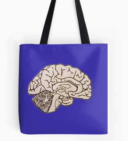 hemisected brain Tote Bag