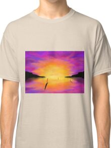 Yachts at Harbour Classic T-Shirt