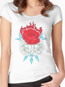 Ice Flowers Women's Fitted Scoop T-Shirt