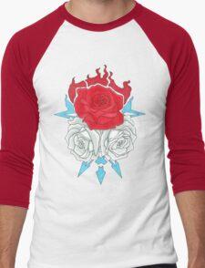 Ice Flowers Men's Baseball ¾ T-Shirt