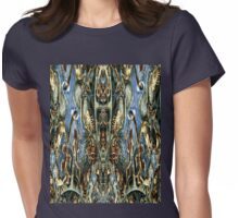 A fractal based on images by Ernst Haeckel Womens Fitted T-Shirt