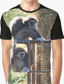 Monkeys animal print Graphic T-Shirt