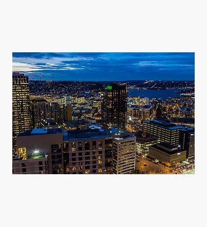 Seattle, Washington skyline at dawn Photographic Print