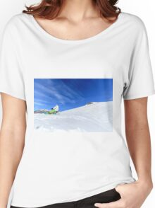 Snowboarding, Photographed in Breuil-Cervinia, Italy Women's Relaxed Fit T-Shirt